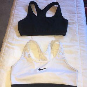 Nike Dri fit sports bras.